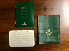 ROLEX Green Leather Card/Document Holder 101.40.55 With 2004-05 Calendar/Book