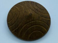 Large Vintage-Antique 1920s Carved Wood Round Cone Shaped Wire Shank Button