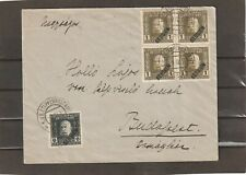 Austria in Serbia Serbien BLOCK OF FOUR COVER to Hungary 1916