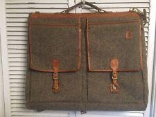 Hartmann Luggage Tweed Garment Bag Brass Hook Leather Trim 25x42 Nice!