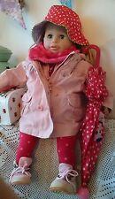 Zapf Puppe Sally 62 cm mit viel rosa/rot/weiß Polkadot Zubehör
