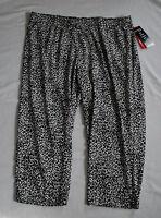 NWT Cathy Daniels stretch pants black/white animal print 3X MSRP $52