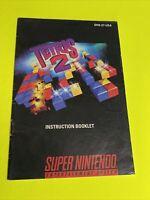 🔥 TETRIS 2 - Instruction Booklet Manual Original Book SNES SUPER NINTENDO