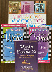 Lot of 4 Greeting Celebration Card Making/Writing Books Craft Projects Creative