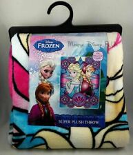 "New Disney Frozen Elsa And Anna Super Plush Fleece Throw Blanket 48""X60"" Warm"