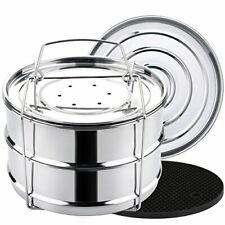 Aozita 8 qt Steamer Insert Pans for Instant Pot 8 Quart Accessories - (8 Qt)