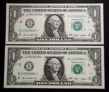 2009 USA Consecutive One $1 Dollar Star Notes - B11526823*/24* Uncirculated