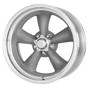 18x10 +6 American Racing Classic Torq Thrust II Gray 5x127 Wheel Rim (QTY 1)