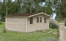 44 mm Gartenhaus 500x400 cm Gerätehaus Holz Hütte Holzhaus Blockhaus Lounge