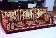Oriental Floor Seating Sofa Arabic Couches cushions Turkish Indoor Yoga Gold Set