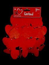 Red Felt Heart Garland 9 Feet