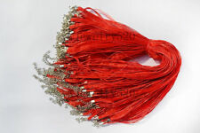 Wholesale 20pcs Silk Organza Voile Ribbon Cord Necklaces Lobster Clasp FREE