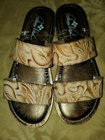 Patricia Nash Womens Flair WOMEN 7.5 SLIP ON SANDALS LEATHER