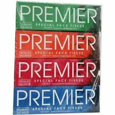 PREMIER Box FACE Tissue 100 PULLS 2PLY(Pack of 4)  free shipping UK