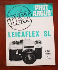 PHOT ARGUS LEICAFLEX SL TEST REPORT, JAN 1969/210863