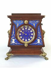 Ball, Black & Co. 19th Century Mahogany Hand Painted Mantle Clock ~ Japy Freres