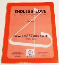 Partition sheet music DIANA ROSS & LIONEL RICHIE : Endless Love * 80's MOTOWN