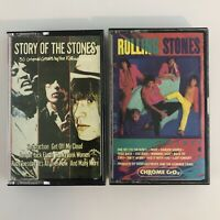 Lot of 2 Rolling Stones cassette tapes - Dirty Work - 30 Original Greats