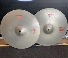 "More details for vintage meinl streamer 14"" hi hat cymbals #642"