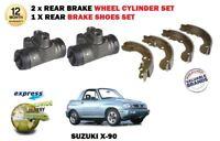 Per Suzuki X90 El 1.6i 16V SZ416 1995-1997 2 X Ruota Post Cilindri + Scarpe Set