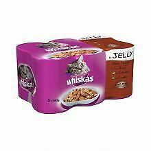 WHISKAS 1+ Cat Tins Meat Selection in Jelly 6 x 390g - 390g - 510625