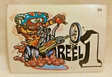 1970S SCANLENS ODDEST ODD RODS STICKER #94 REEL-1 DRAG RACER DONRUSS LICENSED!