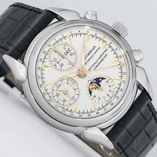 Eterna 1948 phases de la Lune Chronographe vollkalender Chronomètre Montre 8515.41.10.1237
