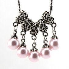 5pcs Tibetan silver pearl pendant spacer beads fit Charm European Bracelet Bf028