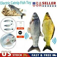 Electric Moving Cat Kicker Fish Toy Realistic Flopping Fish Wiggle & Sing Usa