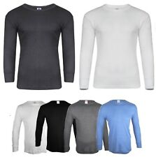 NEW MENS THERMAL UNDERWEAR LONG SLEEVE VEST TOP SHIRT BRUSHED TOPS ALL SIZES UK