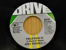 Joey Porrello 45 Fools Rush In bw Those Were The Good Ol Days - Drive VG++