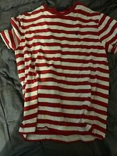 POLO RALPH LAUREN men size Lg red and white striped short sleeve t-shirt
