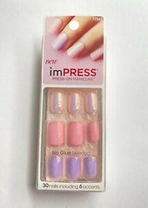 imPress Press On Nails 72043 Goal Digger Light Pink Lilac Iridescent Accent
