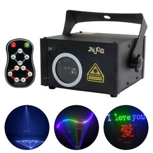 TF Card RGB Animation Program Projector Remote DMX DJ Party Stage Laser Lighting