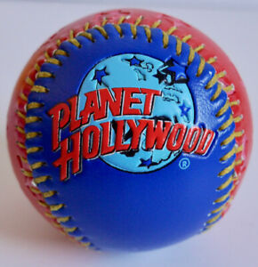 PLANET HOLLYWOOD BASEBALL COLLECTOR BALL GAMEMASTER RED & BLUE +YELLOW STITCHING