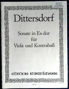 K.D. von Dittersdorf Sonate in Es-Dur für Viola und Kontrabass - gebraucht
