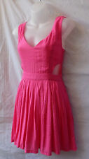 Mooloola Size 8 - 10 NEW Mini Dress Shimmery Hot Pink Casual Beach Evening Party