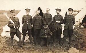 WW1 NORTHERN CYCLISTS BATTALION  Military Camp Photo Postcard