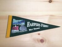 Vintage 50s 60s Pennant Harpers Ferry West Virginia 12""