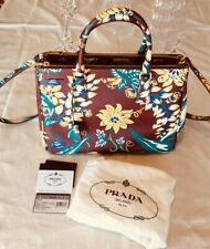 Authentic Prada BN2274 Two Way Saffiano Print Amaranto Bag