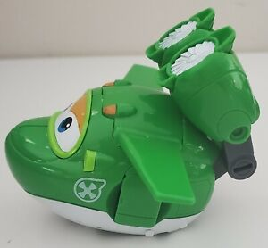 """Super Wings - Transforming Mira Toy Figure   Plane   Bot   5"""" Scale, Green"""