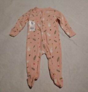 NWT Old Navy Bunny Rabbit Footed One Piece Sleeper 6-9 Months Baby Girl