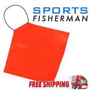 PROPELLOR SAFETY SIGNAL FLAG - HI-VIS ORANGE PVC - Boat/Marine/Trailer/Long Load