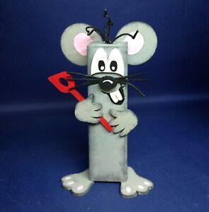 """Bastelset: Pfahlfigur """"Maus"""" mit Kochlöffel ca. 15cm"""