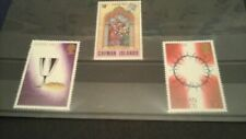 3X 1973-1981  CAYMAN ISLANDS EASTER STAMPS ON STOCKARD