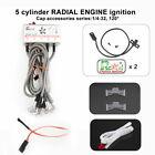 Rcexl 5 Cylinder Radial Engine Ignition CDI for NGK ME-8 1/4 -32 120° w/ Sensor