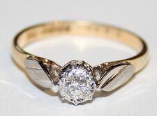 Gorgeous Vintage 18ct Gold Diamond Engagement Ring 0.12cts Size M 1/2