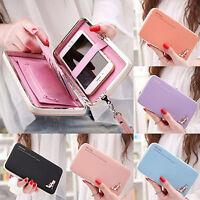 ITS- AU_ Women Leather Wallet Purse Long Handbag Clutch Box Bag Phone Card Holde