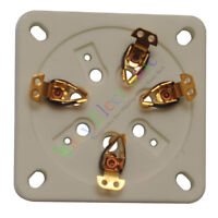 5pc 7Pin Gold Ceramic vacuum Tube sockets for GM70 GM71 audio amplifiers parts