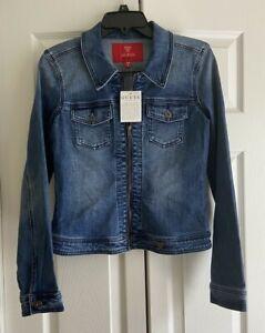 NWT Guess Women's Slim Fit Denim Zip Up Jacket Size M